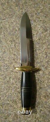 John Nelson Cooper Knife! Swedge Blade! Brass and Micarta Handle! U Hilt