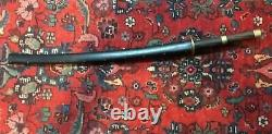 KATANA SWORD WITH ROSEWOOD HANDLE and SCABBARD with CAST BRASS FROM PHILIPPINES