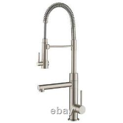 KRAUS Artec Pro Single-Handle Pull-Down Sprayer Kitchen Faucet Stainless Steel