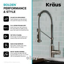KRAUS Pull-Down Sprayer Kitchen Faucet Bolden 1-Handle Dual Function Sprayhead