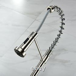 Kitchen Faucet Single Handle Pull Down 2-Function Sprayer Faucet Stainless Steel