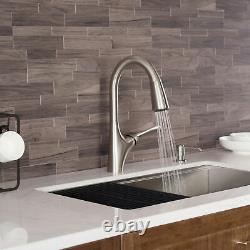 Kraus KPF-1674 Stainless Steel Merlin Single Handle Pull-Down Kitchen Faucet