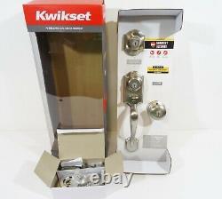 Kwikset Montara X Juno Single Cylinder Door Handle Set in Satin Nickel NEW
