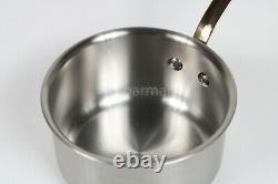 MAUVIEL 1830 Stainless Steel Saucepan pot cookware Brass handle 1.3 qt. 6