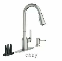 MOEN Milton Single-Handle Pull Down Sprayer Kitchen Faucet Stainless Steel New