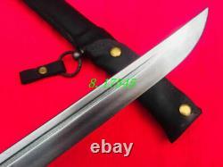 Military Japanese Army Nco. Sword Samurai katana Saber Brass Handle Leather Saya