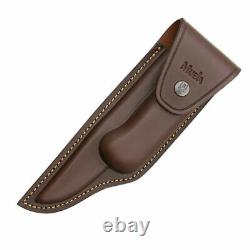 Muela Bowie Folding Knife 7 Stainless Blade Coral Wood Handle withBrass Guard