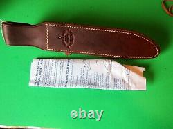 New Randall #1 8 Stacked Leather Handle, Brass Hilt & Carbon Steel Knife