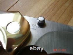Nib Buck 419 Kalinga Knife Brass Frame Bos S30v Blade Walnut Wood Handles USA