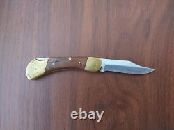 PUMA handmade Gentleman folding knife 2.5 blade, wood / brass handle 22 0955