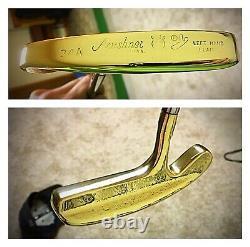 Pre-Scotty Cameron/Acushnet BullsEye Flange 34 LH Putter/ New Leather Grip
