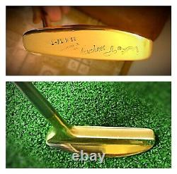 Pre-Scotty Cameron/Heal Shafted Flange 34.5 Rh Bullseye Putter/Leather Grip