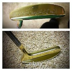 Pre-Scotty Cameron/Heal Shafted Flange 35 Rh Bullseye Putter/Leather Grip