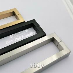 Pull Square Handle Entry Door Stainless Steel Satin / Black / Satin Brass