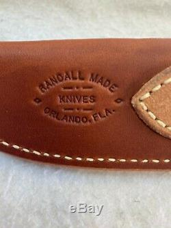 RANDALL KNIFE KNIVES MODEL 25-5 Blade Stainless Steel STAG & Leather Handle