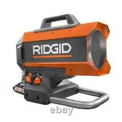 RIDGID Propane Heater 18-Volt 60K BTU Hybrid Forced Air Propane Portable Outdoor
