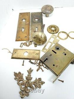 RUSSWIN 11213 PUSH BUTTON ENTRY MORTISE LOCK CYLINDER KEYS Handle WORKS Extras