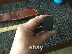 Randall Knife 12-6 Little Bear bowie SS blade brass hilt FG micarta handle maker