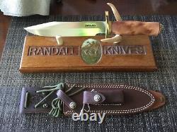 Randall Knife 14-71/2 CDT carbon blade thuya handle brass FC hilt w C Cap n coll