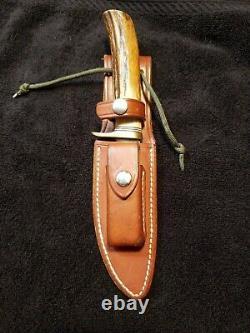 Randall Knife Alaskan Skinner 11-4.5 Stag Handle Blade brass finger guard RARE