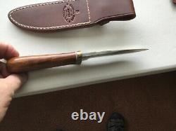 Randall Knife Gambler 5 SS blade ironwood handle brass hilt makers sheath