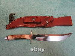 Randall Made Knives RKS # 4, 8 inch blade, Stag Grip, Brass Hilt, Free Shipping