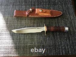 Randall knife 1-7 leather handle brass hilt alum cap carbon blade johnson sheath