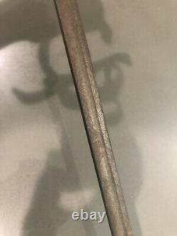 Rapier Sword Italian Italy Antique Vintage Brass Grip Steel Engraved Blade