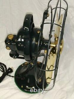 Redone Vintage GE AQ1 Loop Handle 12 Brass blade Oscillating Three speed Fan