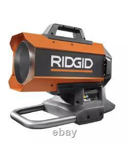 Ridgid Propane Heater Portable Forced Air Hybrid Heater Brushless 18Volt NEW