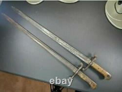 S & K Brass Handle Sword Bayonet