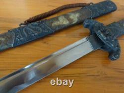 S022 Sturdy Japanese Samurai Sword Carbon Steel Blade Katana Straight Handle