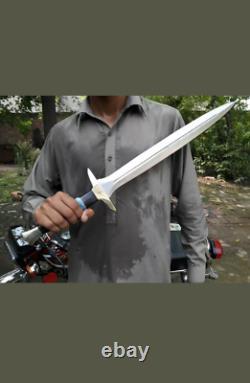 Sharp Edge New Custom Handmade Carbon Steel Viking Sword with Resin Handle