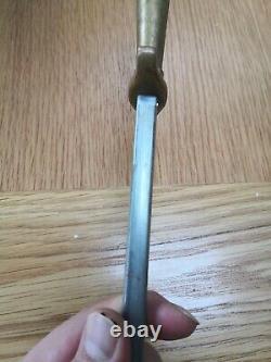 Sharpening Steel F. Dick. Brass Handle. Old rare Steel. Scandinavian Style