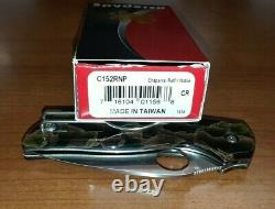 Spyderco Chaparral Raffir Noble Brass Handle CTS XHP Steel Pocket Knife C152RNP