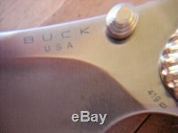Superb Buck Le 419 Kalinga Pro Knife Bos S30v Blade White Turquoise Handle #005