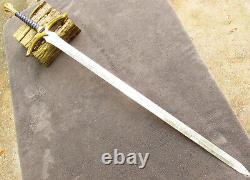 Sword Brass Handle Replica Fantasy Full Size HEAVY blade long point Gift Props