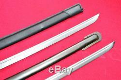 Two Japanese Army NCO Sword Samurai Katana Steel Sheath Brass Handle HandMade