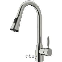 VIGO Aylesbury Single-Handle Pull-Down Sprayer Kitchen Faucet in Stainless Steel