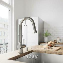 VIGO Gramercy Single-Handle Pull-Down Sprayer Kitchen Faucet in Stainless Steel