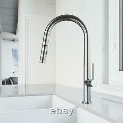 VIGO Greenwich Single-Handle Pull-Down Sprayer Kitchen Faucet in Stainless Steel