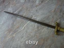 VTG ANTIQUE 1900s F. DICK BUTCHER CHEF KNIFE HONING SHARPENER SWORD BRASS HANDLE