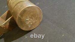 Vintage Antique Solid Brass Handheld Roller Tool With Steel Handle