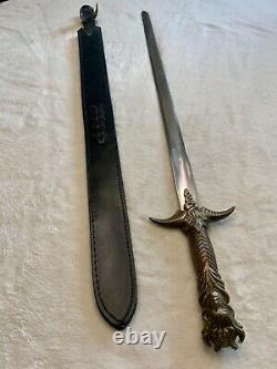 Vintage Brass Handle Kit Rae Double Point Stainless Sword