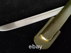 Vintage Japanese Army Military Sword Samurai Katana Copper Handle