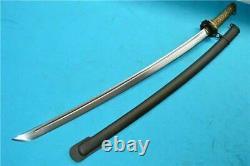 Vintage Japanese Sword Samurai Katana Brass Handle With Sheath Matching Number