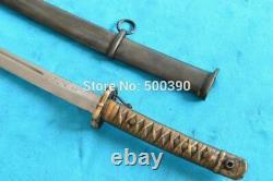 Vintage Japanese Sword Samurai Katana Sharpen Steel With Brass Handle & Sheath