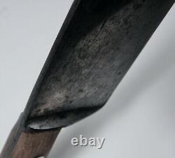 Vintage Lamson & Goodnow 12 Carbon Steel Chef Knife Hardwood Handle Brass Rivet