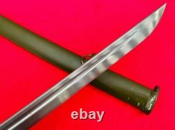 Vintage Military Japanese Army Nco Sword Sabre Katana Brass Handle Steel Saya