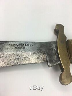 Vintage Sheffield Steel No 6 Superior Pocketknife Brass Bone Handle 1850s Knife